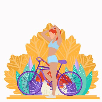 Woman, Bicycle, Girl, Outdoors, Cycling, Ride, Sport