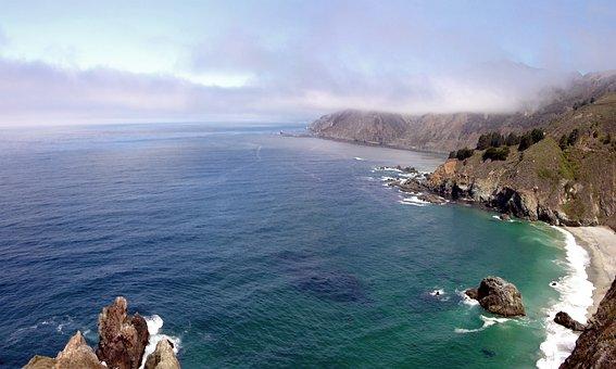 Big Sur, California, Pacific, Coast, Ocean, Coastline