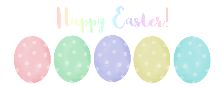 Graphic, Easter, Eggs, Pastel, Header, Digital, Rainbow