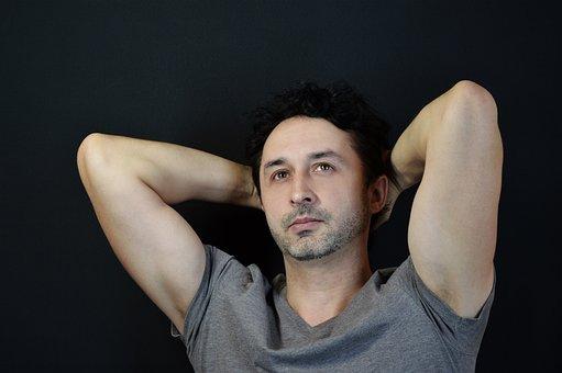 Man, Biceps, Pose, Muscle, Hands, Brunette, Male, Model