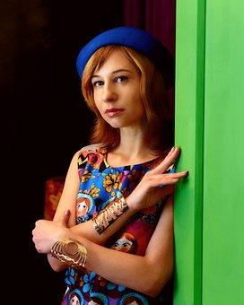 Woman, Fashion, Matryoshka, Dress, Russian Style, Girl