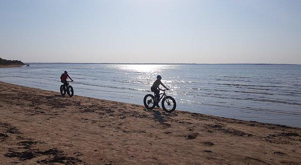 Fatbike, Bike, Cycling, Beach, Sea, Sun, Summer, Yyteri