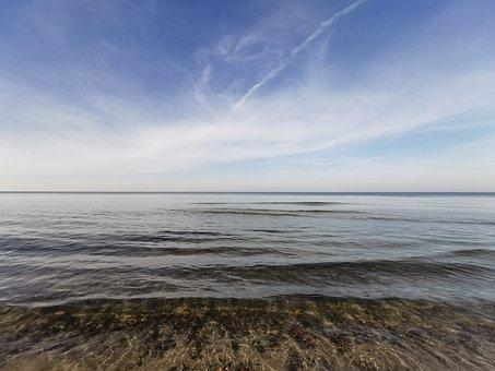 Sea, Calm, Spring, Coastline, Sky, Blue, Breath, Water