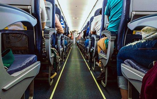 Airplane, Seats, Travel, Airline, Passenger, Aisle
