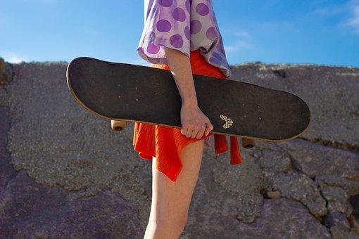 Girl, Skate, Skating, Skateboard, Skateboarding, Skates