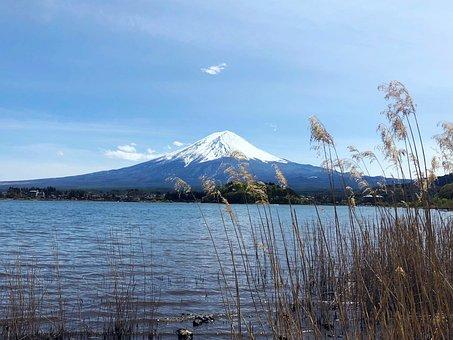 Japan, Mount Fuji, Snow Mountain