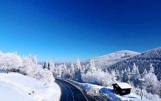 Mountains, Snow, Winter, View, The Jeseníky Mountains