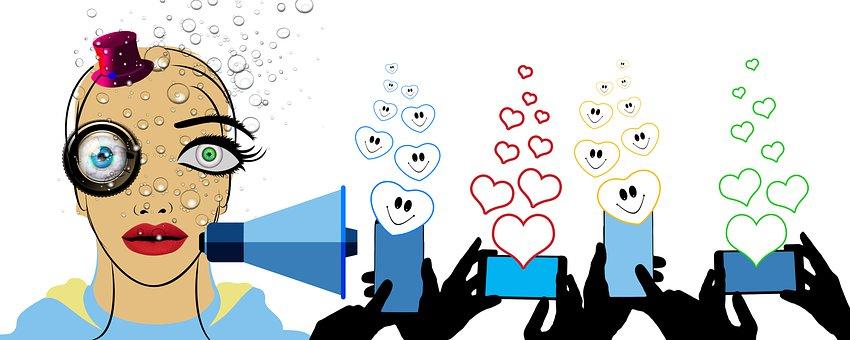 Influencer, Social Media, Marketing, Social, Bubbles