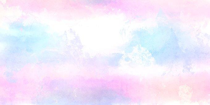 Pastel, White, Pink, Blue, Soft, Splash, Bloom, Spring