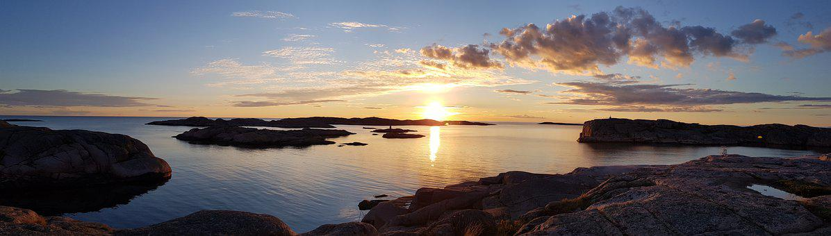 Sweden, West Coast, Sunset