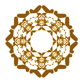 Mandala, Flower, Decoration, Brown, Symmetry
