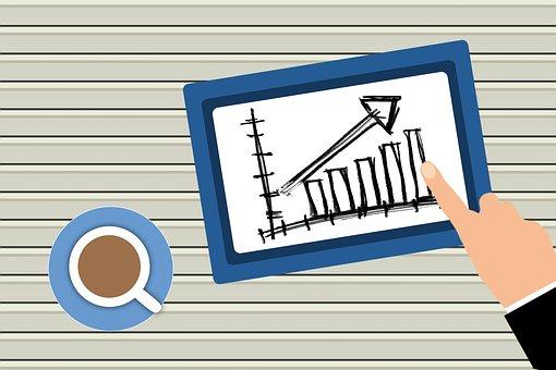 Tablet, Graph, Business Plan, Finger, Touchscreen