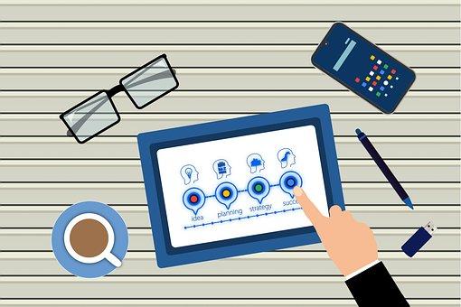 Tablet, Planning, Business Plan, Finger, Touchscreen