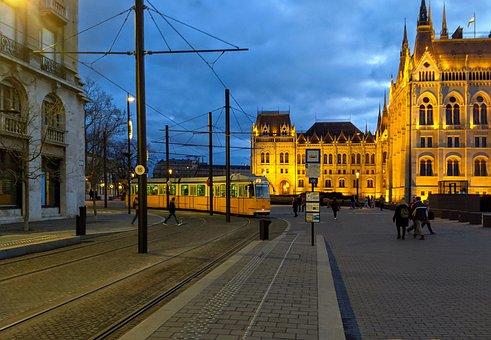 Budapest, Tram, Hungary, City, Transport, Travel