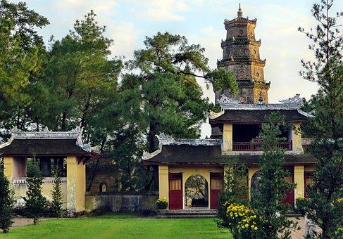 Pagoda, Booed, Viet Nam, Heavenly Lady Pagoda, Religion