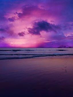 Sea, Sunset, Color, Sun, Water