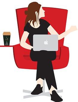 Girl, Doing, Work