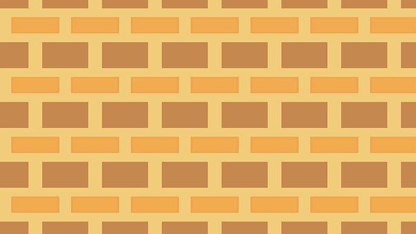 Digital Paper, Brick Wall, Pattern, Background