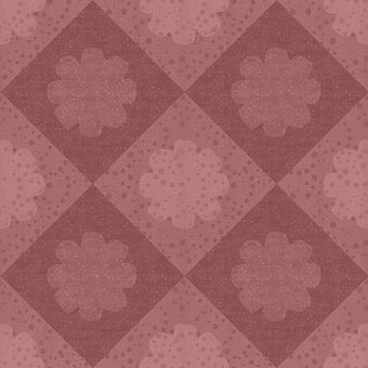 Floral, Checkered, Background, Pattern, Wallpaper