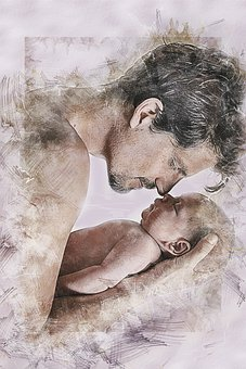 Man, Male, Bay, Newborn, Portrait, Proud, Dad