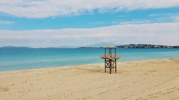 Sand, Beach, Water, Footsteps, Footprints, Turkey