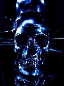 Skull, Head, Bones, Abstract, Painting, Beautiful