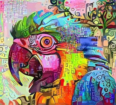 Parrot, Animal, Impressionism, Macaw, Bird, Wildlife
