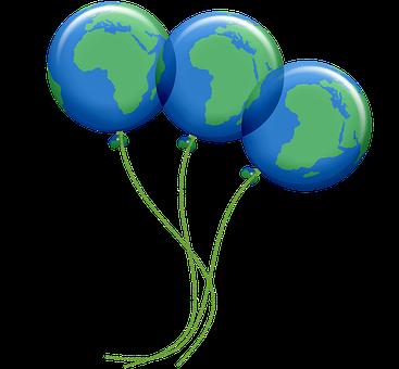 Earth Balloons, Colorful Balloons, Birthday Balloons