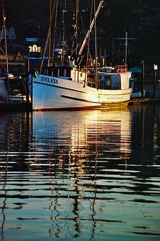 Boat, Fishing, Fisherman, Water, Sunset, Sunrise