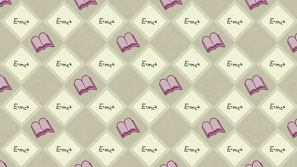 Books, Checkered, Background, Pattern, Physics, E Mc2