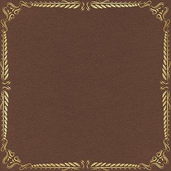 Gold Foil Digital Paper, Border Edge, Digital Paper