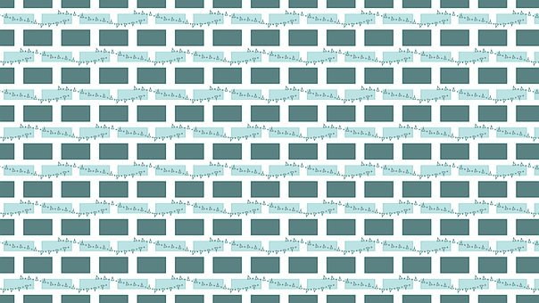 Brick Wall, Bunting, Background, Pattern, Wallpaper