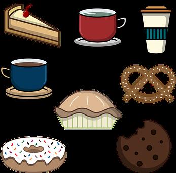 Bakery, Breakfast, Cake, Cartoon, Cherries, Choco Chips