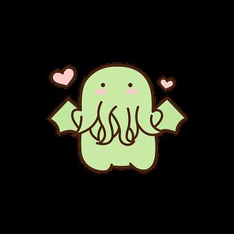 Cthulhu, Monster, Lovecraft, Horror, Octopus, Creepy