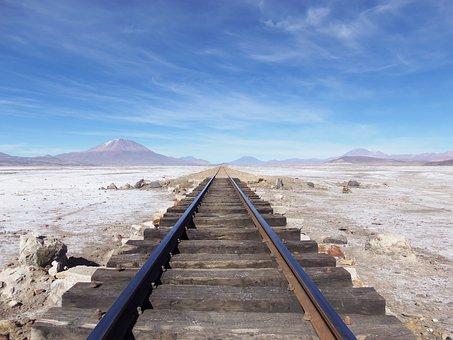 Railroad, Desert, Landscape, Rail, Railway, Rail Track