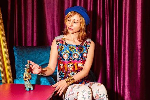 Woman, Matryoshka, Russian Style, Fashion, Slav