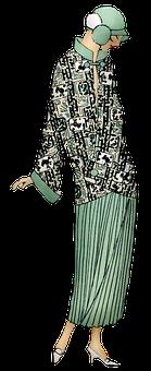 Vintage Woman, Flapper, Fashion, 1920s, Female, Gatsby
