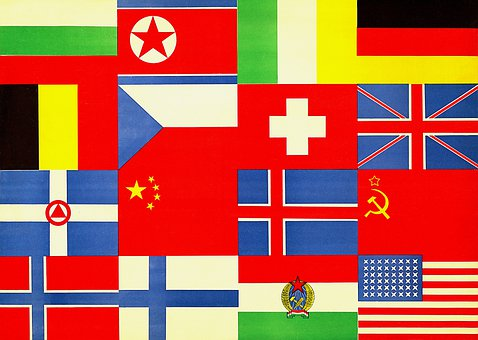 Flags, Nations, Countries, International, Emblem