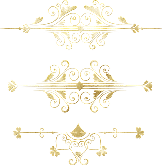 Gold Foil Dividers, Flourishes, Border