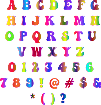 Alphabet, Groovy, Sixties, 1960s, Font, Psychedelic