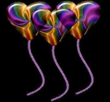 Heart Balloons, Colorful Balloons, Birthday Balloons