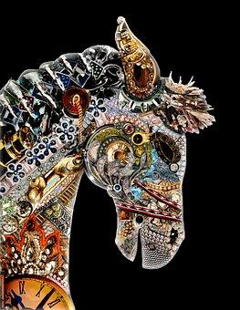 Horse, Metal, Steampunk, Artwork, Fantasy, Animal