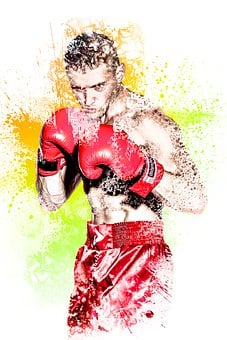 Boxing, Kickboxing, Model, Man, Male, Fight, Red, Pic