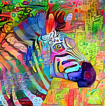 Zebra, Animal, Impressionism, Mammal, Wildlife, Safari