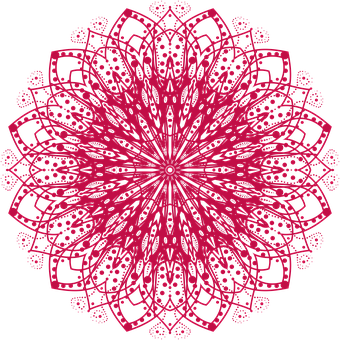 Mandala, Oriental, Red, Pattern, Decoration, Yoga, Art