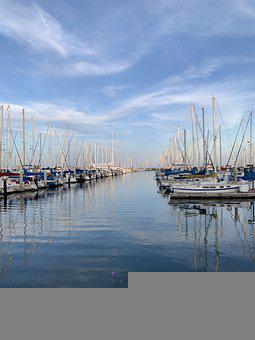 Boats, Bay, Boat, Ship, Sea, Ocean, Water, Marina