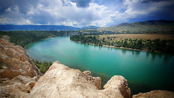 Flathead River, Montana, Mission Valley, Scenic, Summer