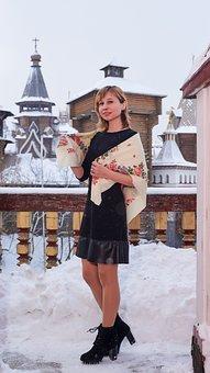 Girl, Model, Snow, Portrait, Snow Covered