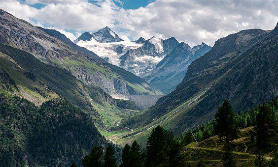 Mountain, Glacier, Nature, Mountains