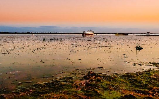 Boats, Water, Sea, Ocean, Sunset, Ship, Fishing, Lake